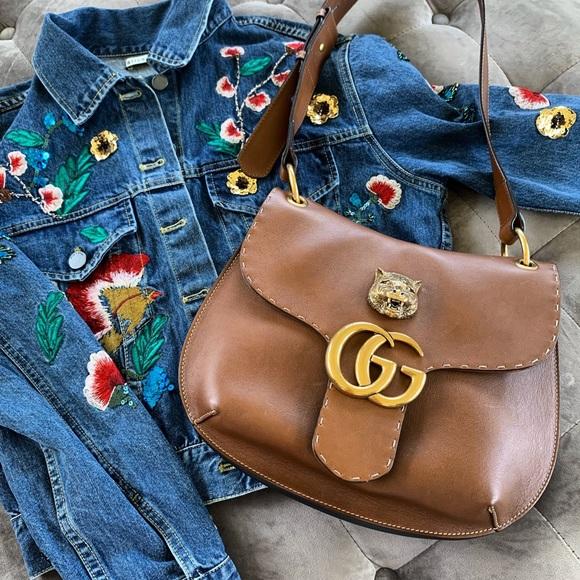 0cd831b3f2fe Gucci Bags | Gg Supreme Marmont Animalier Shoulder Bag | Poshmark